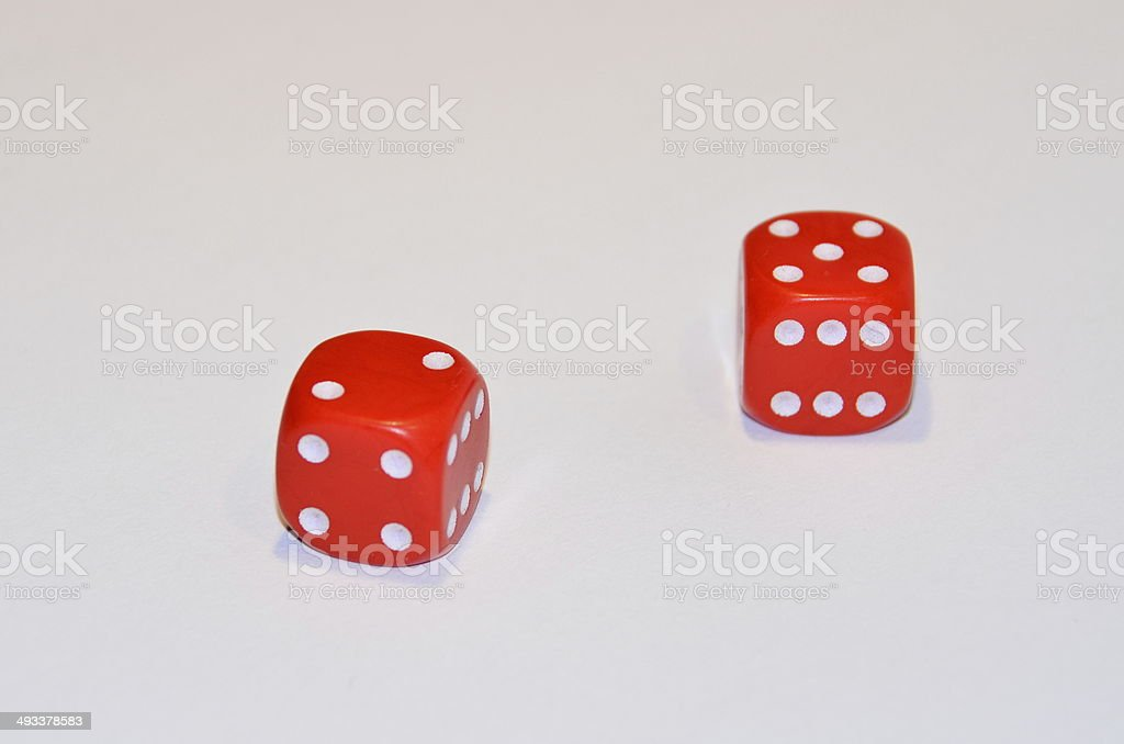 Playing with dice stock photo