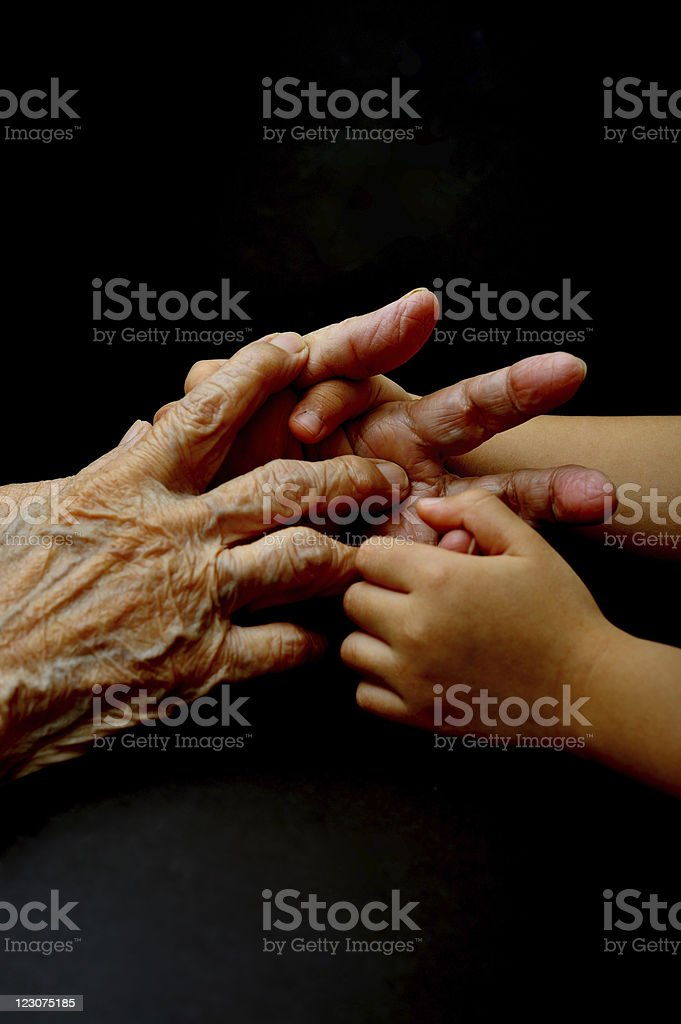 playing with grandson royalty-free stock photo