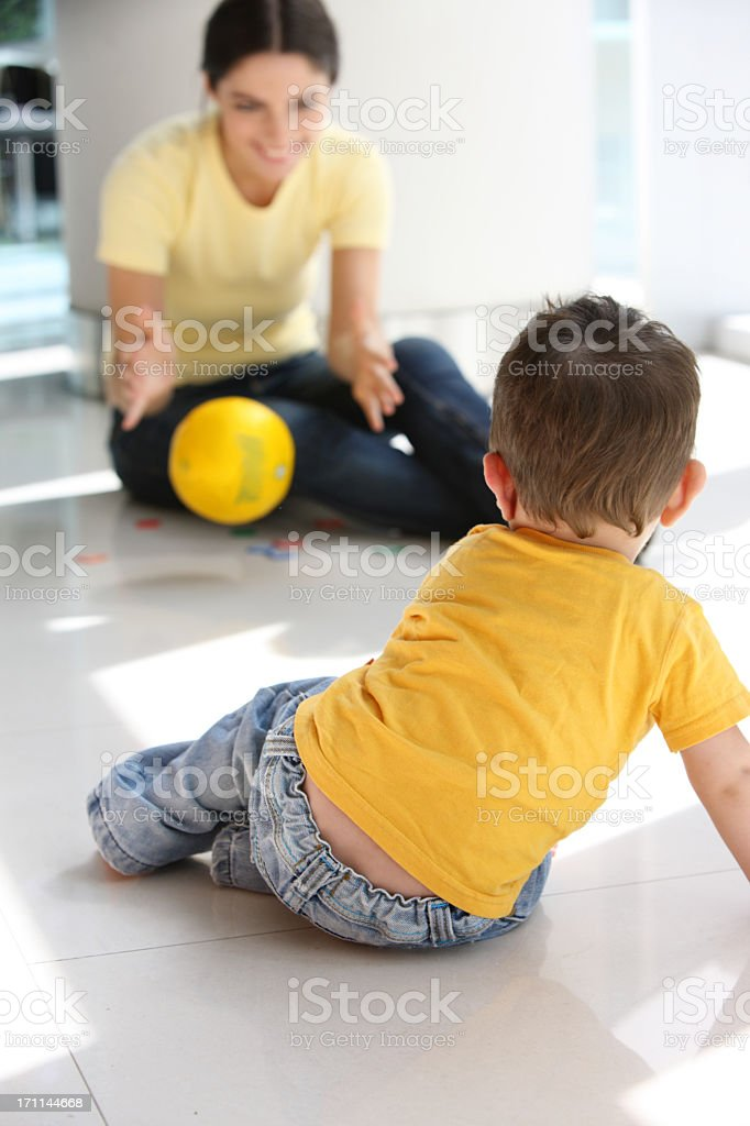 Playing with kids royalty-free stock photo