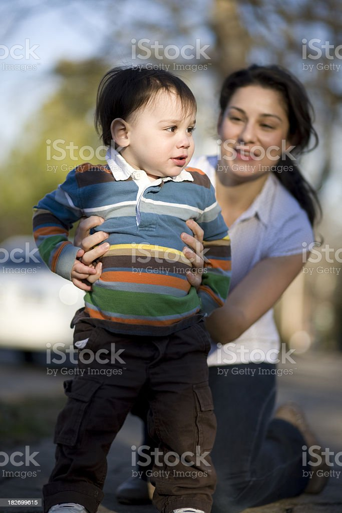 Playing with mom royalty-free stock photo
