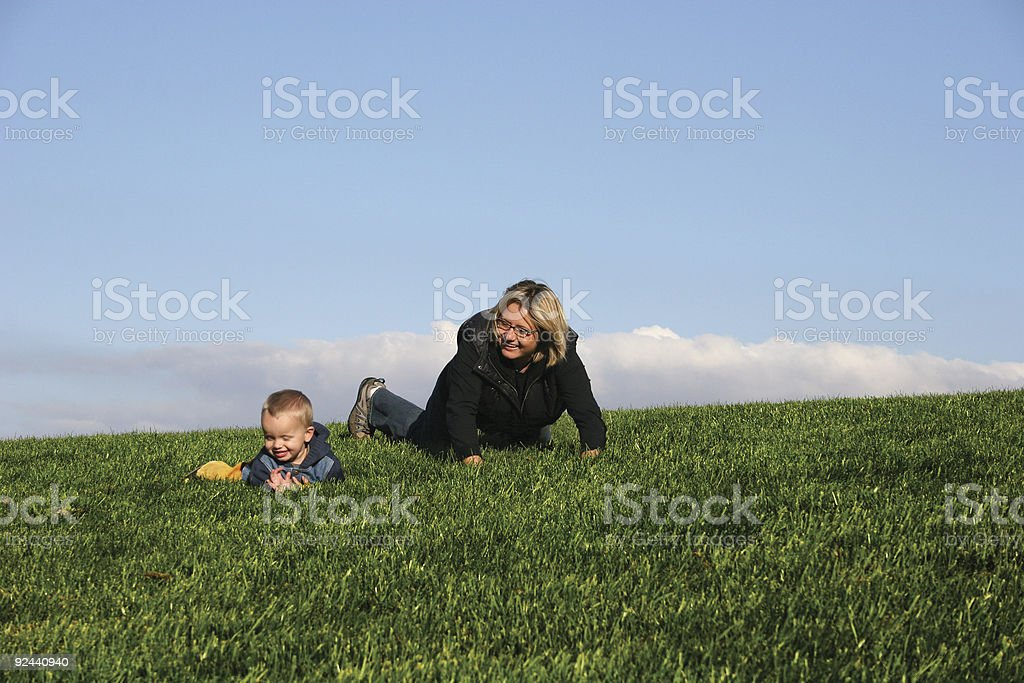 Playing with mommy royalty-free stock photo