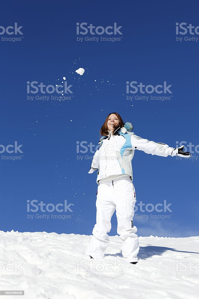 Playing with snow - XXL royalty-free stock photo