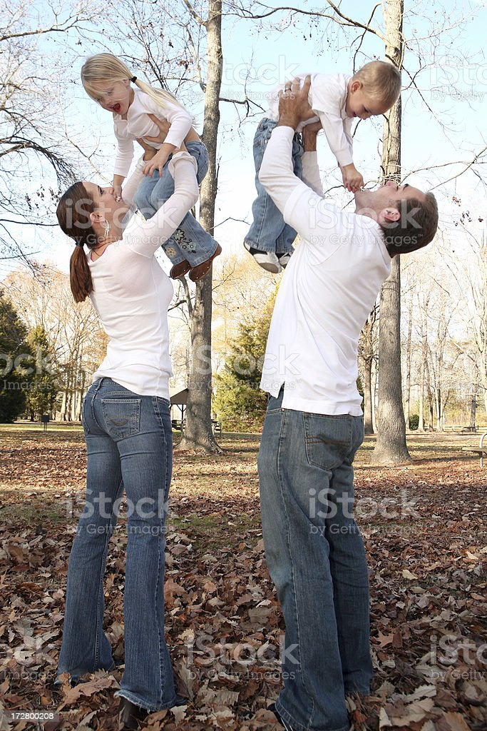 Playing with the Kids royalty-free stock photo
