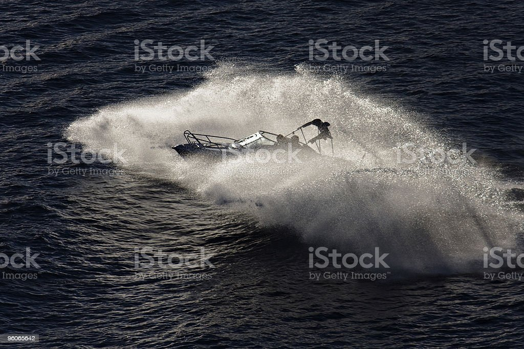 Playing with waves royalty-free stock photo