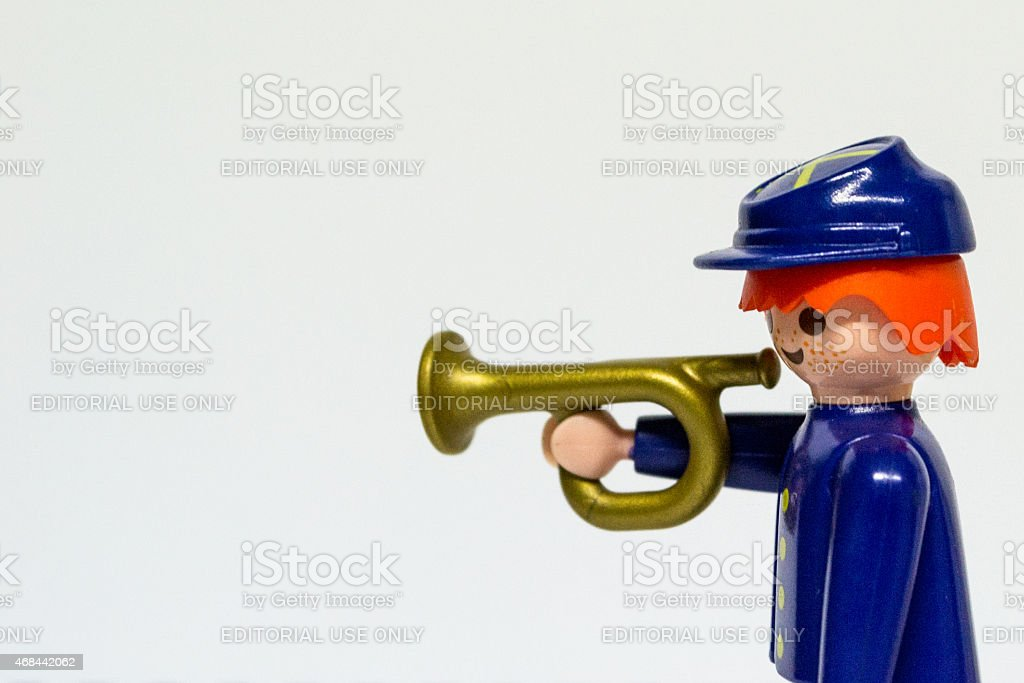 Playmboil american civil war cavalry soldier toy stock photo