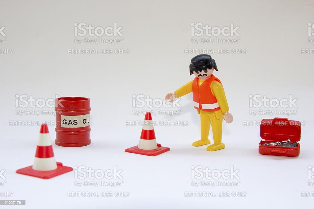 Playmobil engineer - working area stock photo