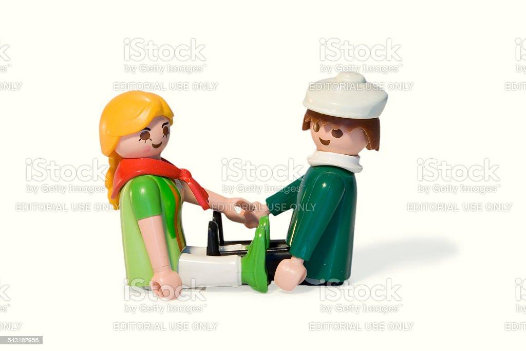Playmobil. Lovers stock photo
