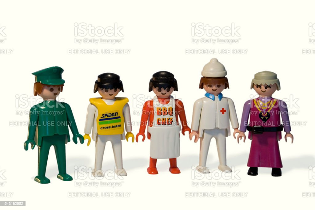 Playmobil. Occupations stock photo