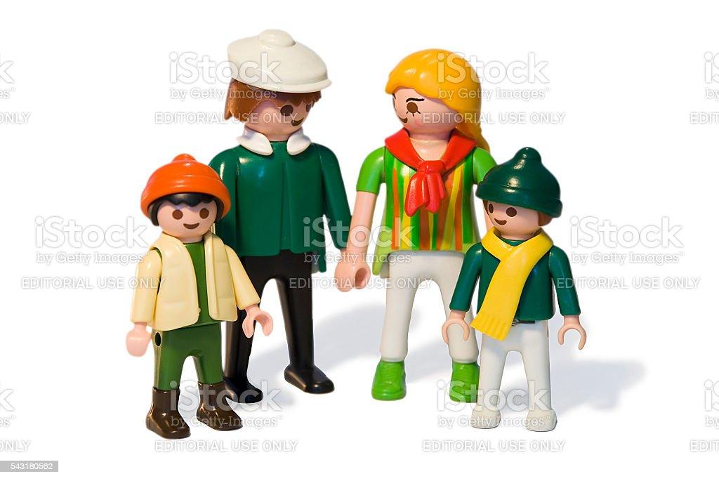 Playmobil. Toy family stock photo