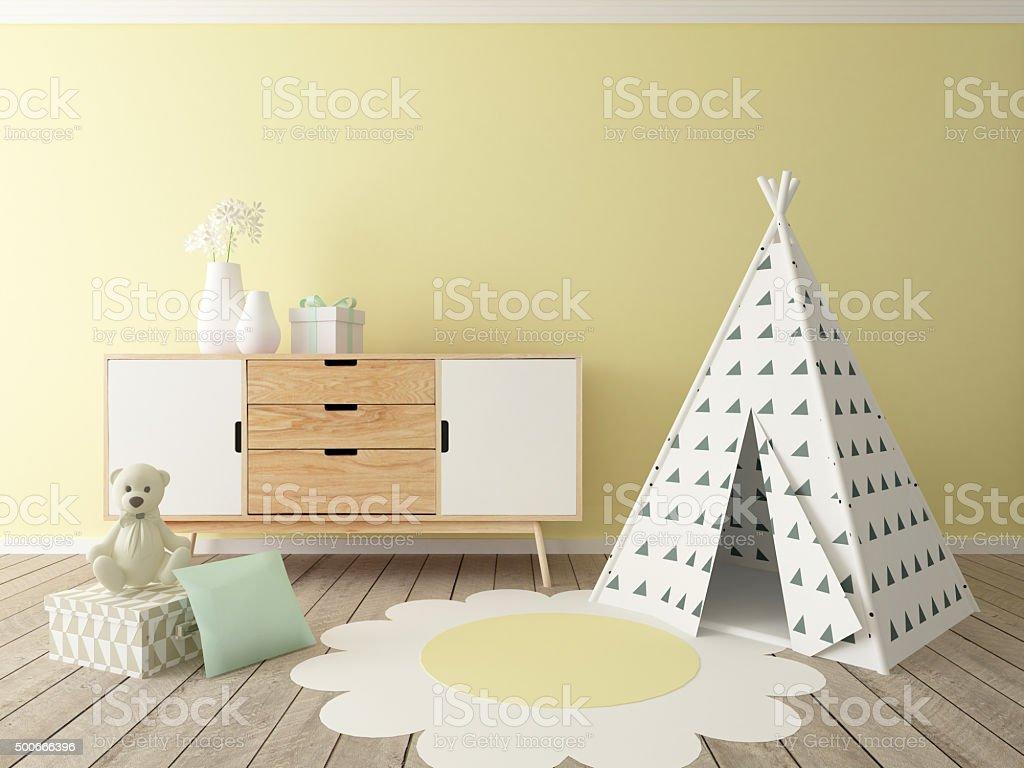 playroom interior stock photo