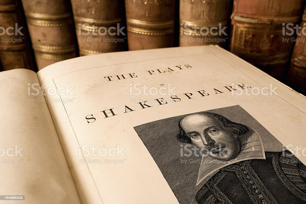 Plays of Shakespeare stock photo