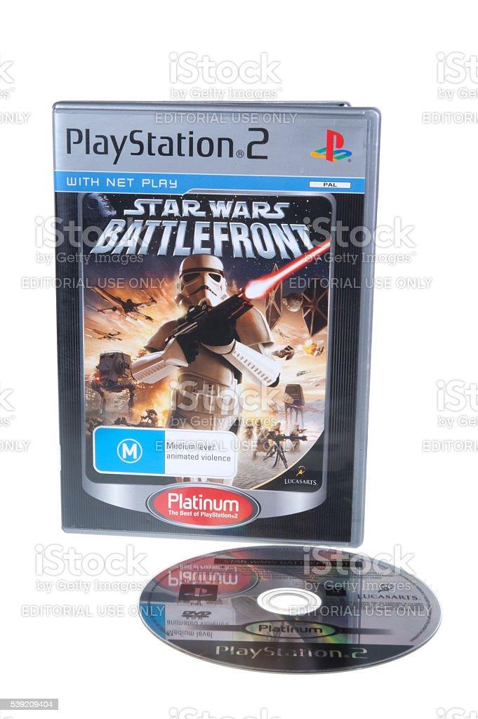 Playstation 2 Star Wars Battlefront Game stock photo