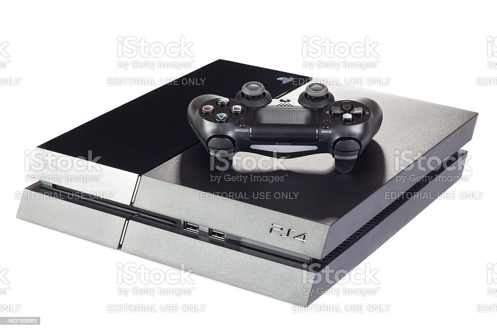 Playstation 4 Gaming Console With Controller stock photo