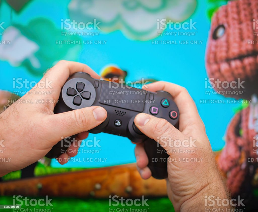 PS4 Playstation 4 stock photo