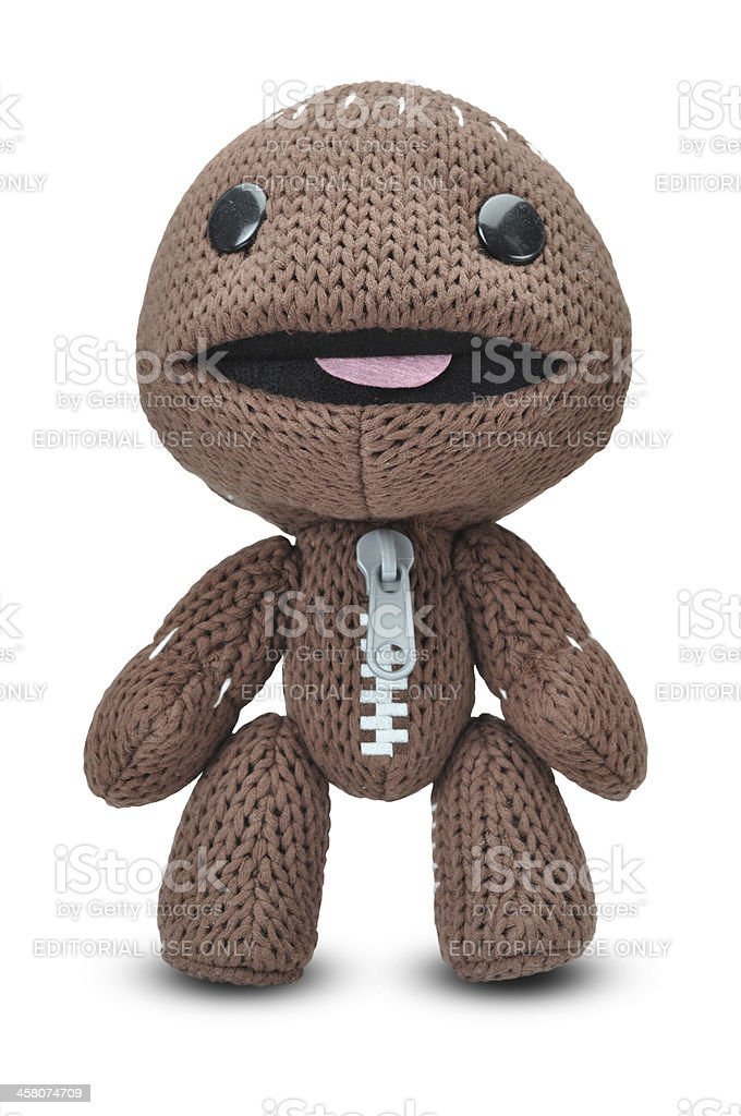 Playstation Little big Planet Sackboy character royalty-free stock photo