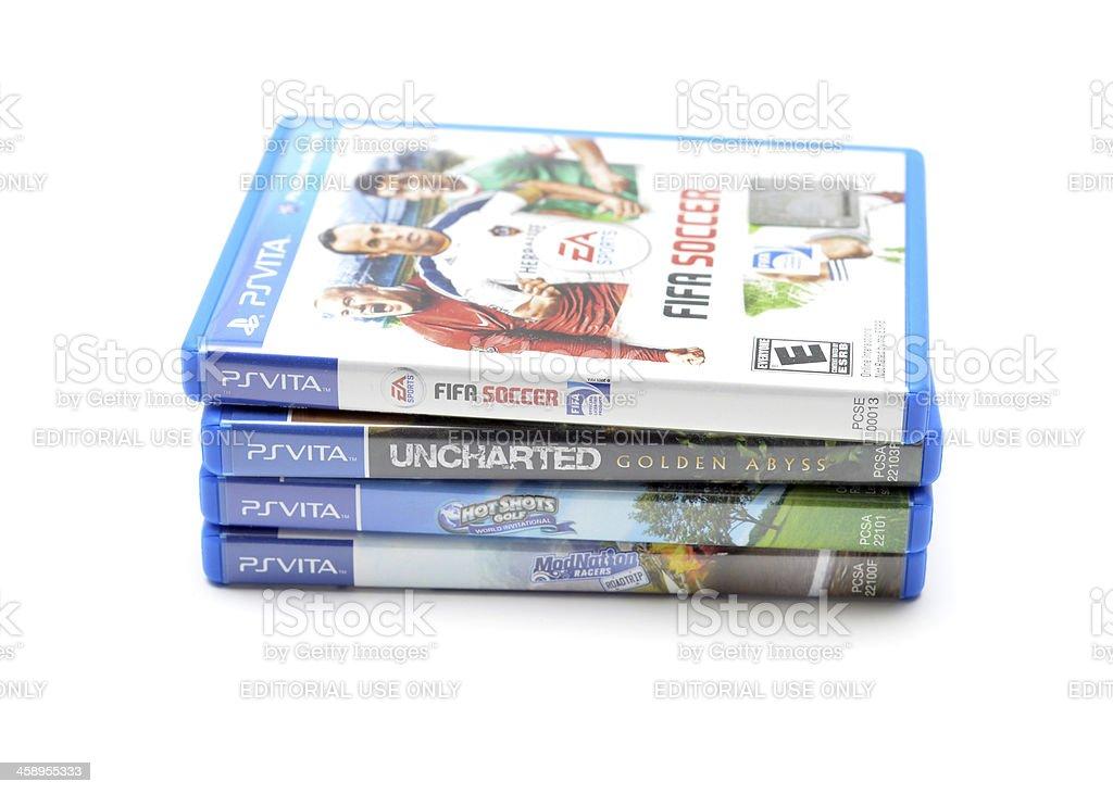 Playstation Vita Games royalty-free stock photo