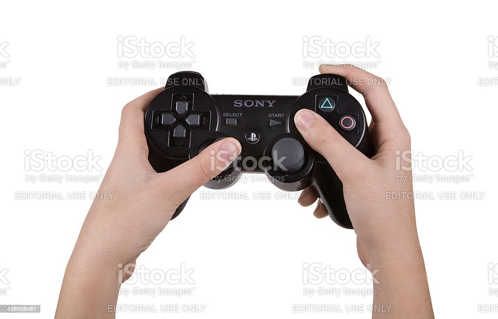 Playstation wireless controller stock photo