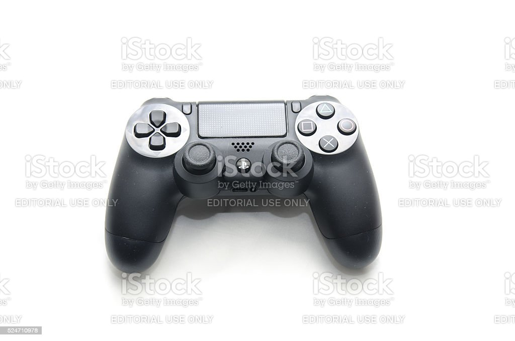 PlayStation4 joystick isolated on white stock photo