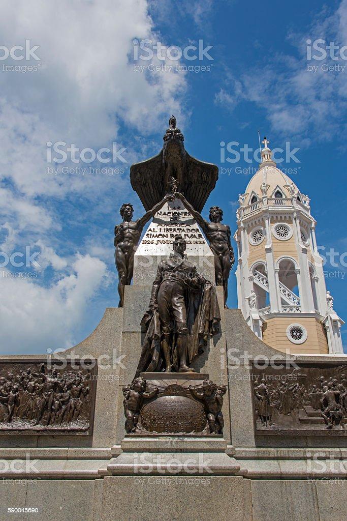 Plaza Bolivar in the old city of Panama stock photo