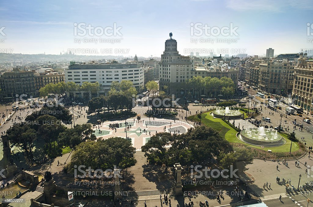 Plaza Catalunya royalty-free stock photo