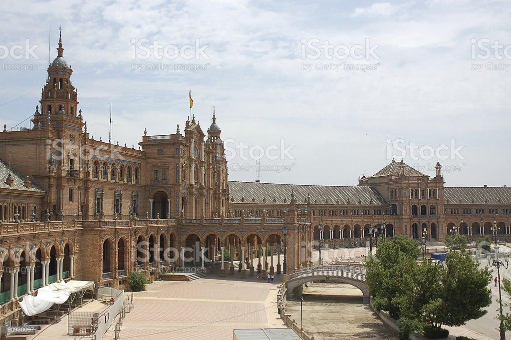 plaza da espana royalty-free stock photo