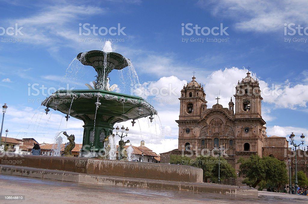 Plaza de Armas, Cuzco, Peru royalty-free stock photo