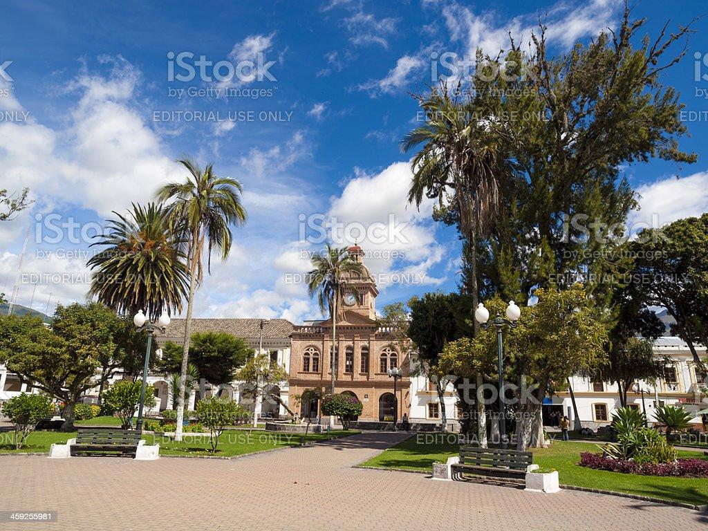 Plaza de Armas, Ibarra, Ecuador royalty-free stock photo