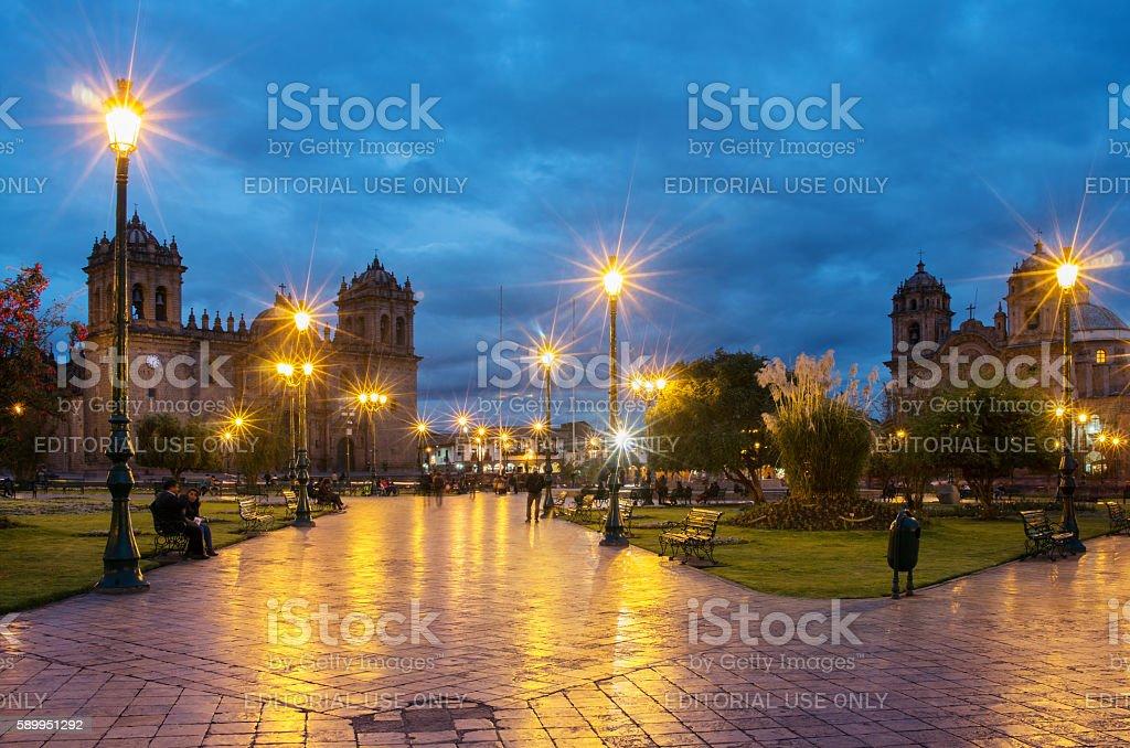 Plaza De Armas  in Cusco, Peru stock photo