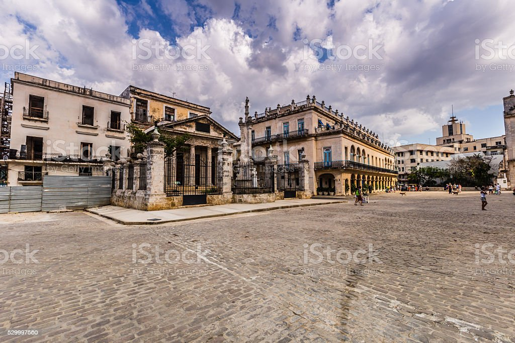 Plaza de Armas in Havana, Cuban Travel Tourism Holiday stock photo