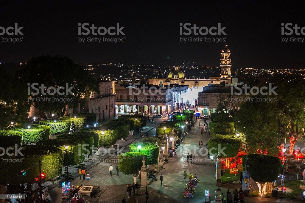 'Plaza de armas' in Morelia Mexico stock photo