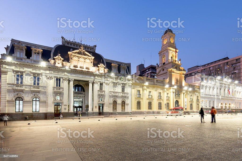 Plaza de Armas in Santiago de Chile stock photo
