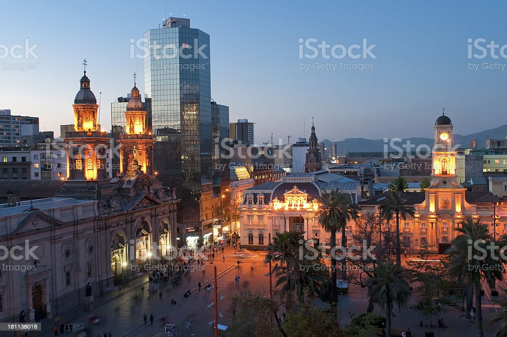 Plaza De Armas, Santiago Chile stock photo