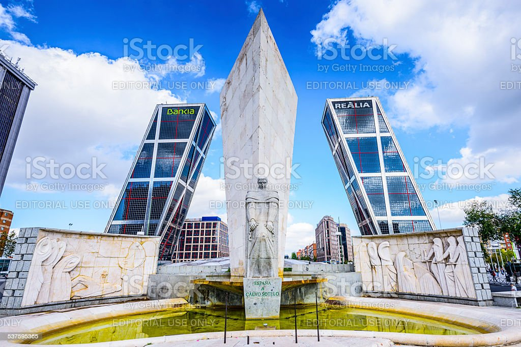 Plaza de Castilla in Madrid stock photo