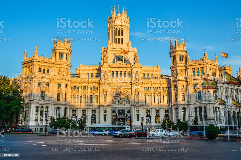 Plaza de Cibeles - Madrid, Spain stock photo