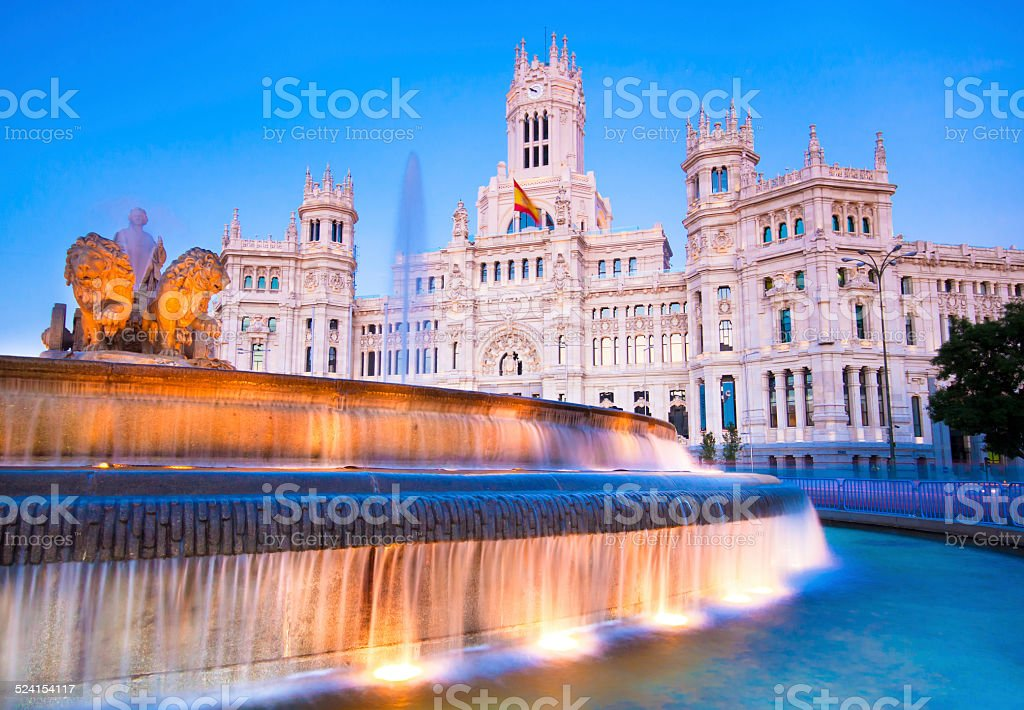 Plaza de Cibeles, Madrid, Spain. stock photo