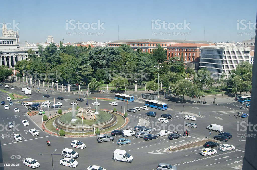 Plaza de Cibeles stock photo