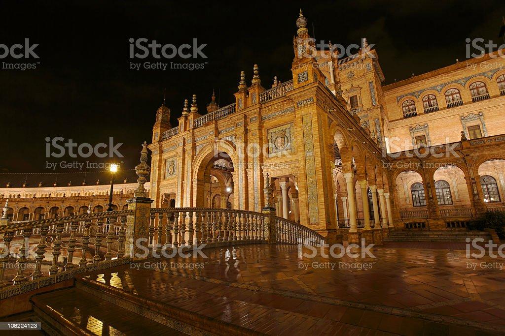 Plaza de España at Night royalty-free stock photo