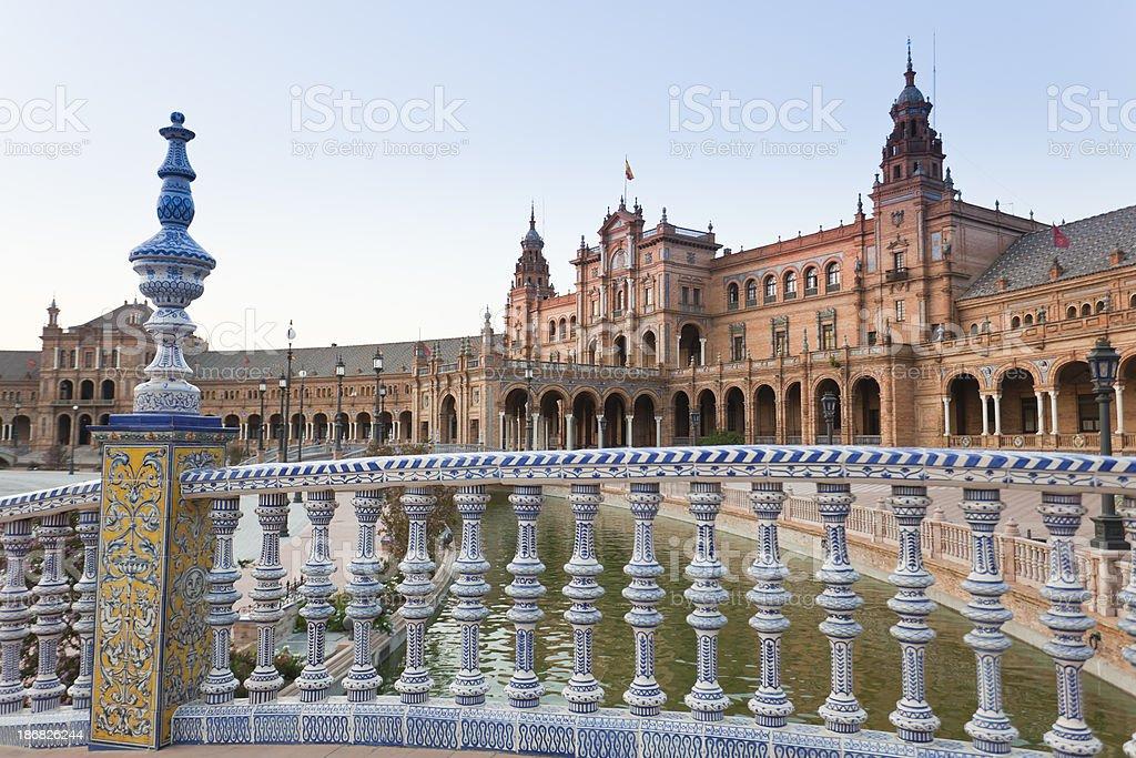 Plaza de España from Seville royalty-free stock photo