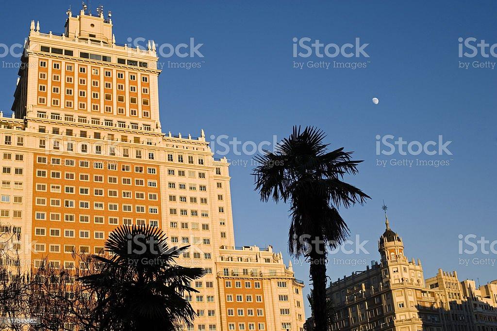 Plaza de España  (Madrid) royalty-free stock photo