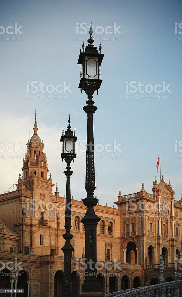 Plaza de España royalty-free stock photo