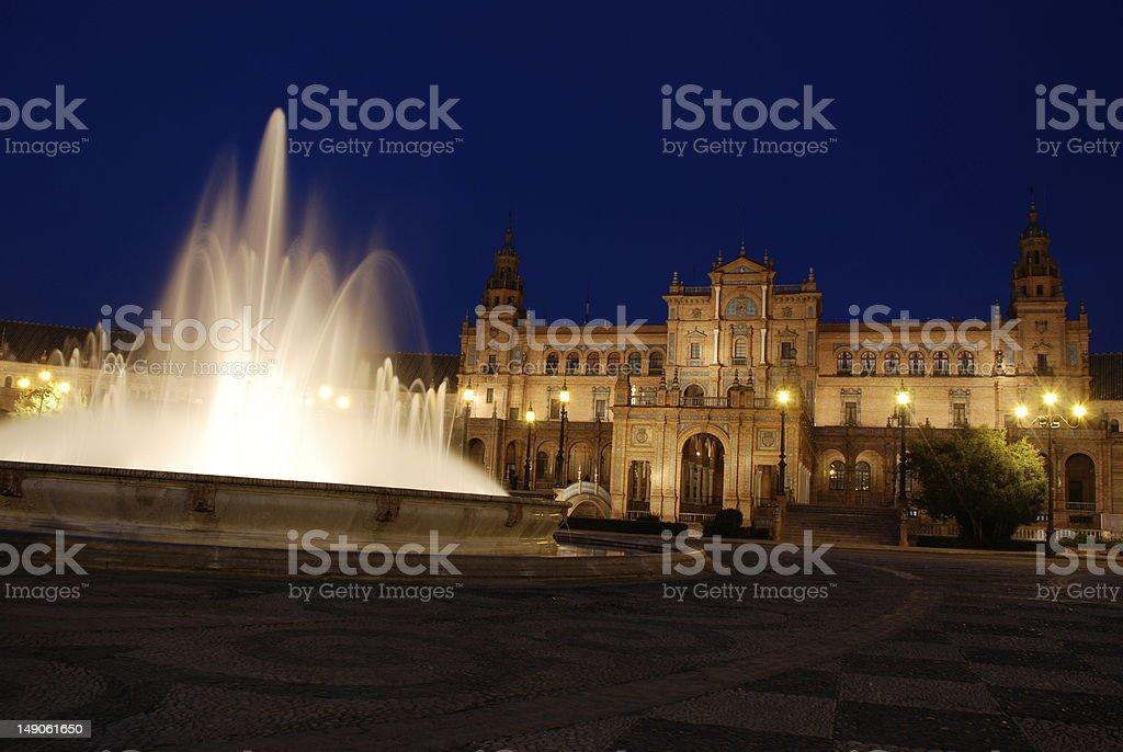 Plaza de Espa?a at Night royalty-free stock photo