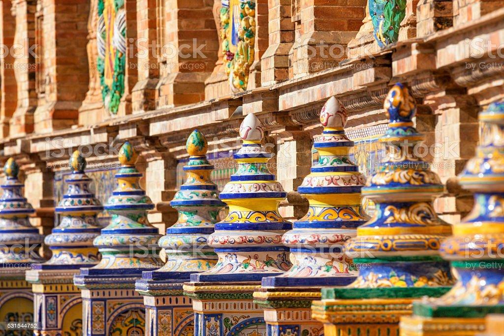 Plaza de España detail stock photo