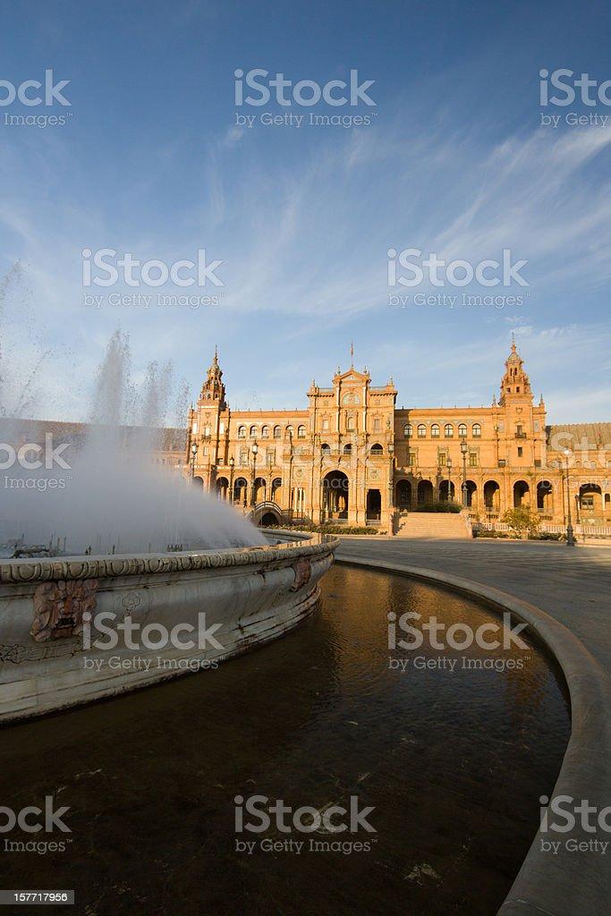 Plaza de Espa?a in Seville, Spain royalty-free stock photo