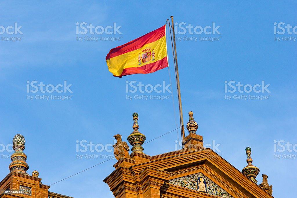 Plaza de Espa?a in Seville, Spain stock photo