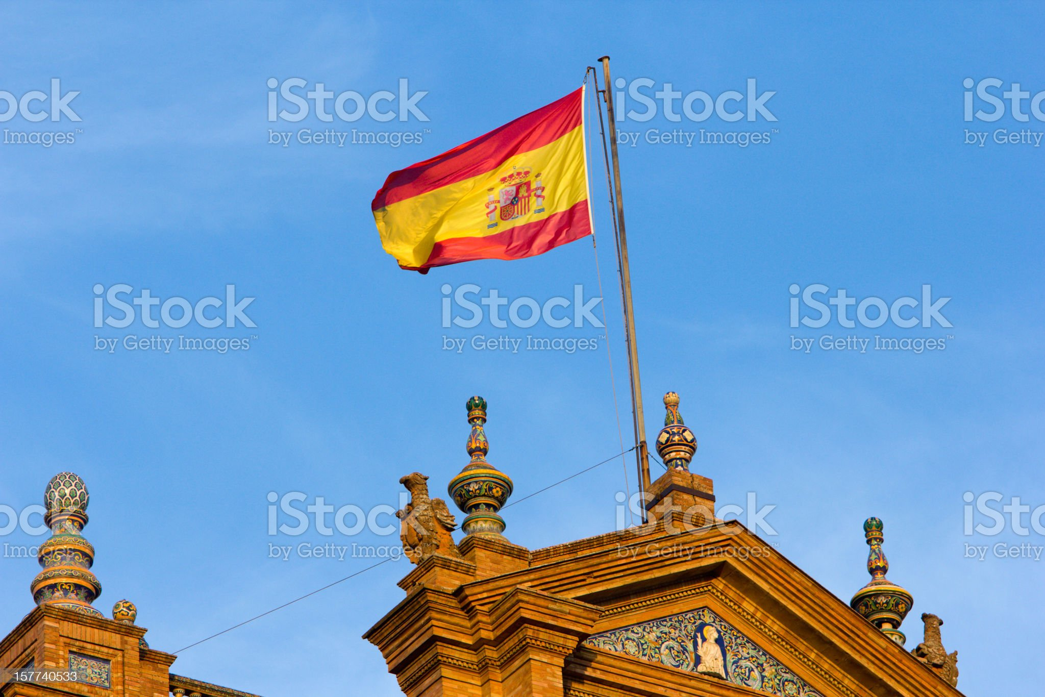 Plaza de Espa?a in Seville, Spain royalty-free stock photo