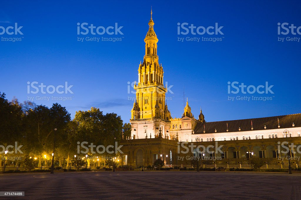 Plaza de España in Seville, Spain royalty-free stock photo