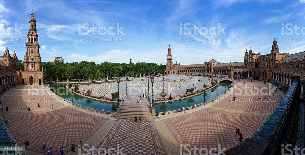 Plaza de España in Sevilla, Spain stock photo