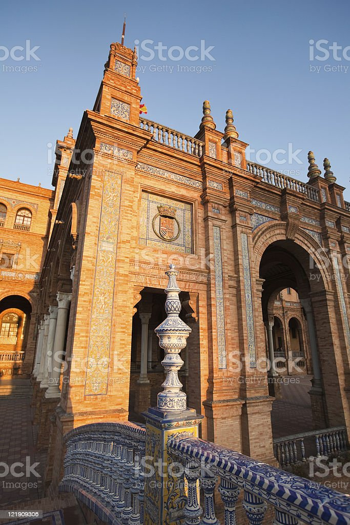 plaza de espa?a, sevilla royalty-free stock photo