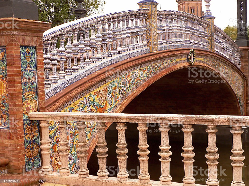 Plaza de España, Seville royalty-free stock photo