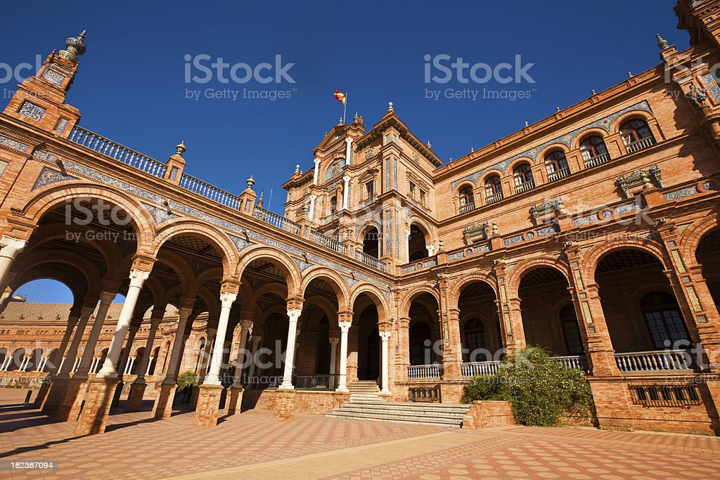 plaza de españa, sevilla royalty-free stock photo